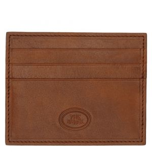THE BRIDGE Story Line – Brown Leather Credit Card Wallet Made in Italy