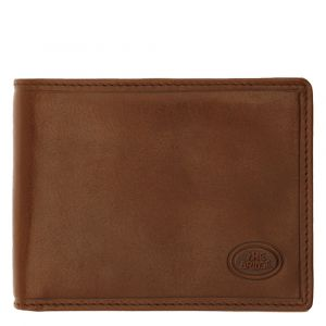 THE BRIDGE Story Line - Brown Leather Wallet with Zip Made in Italy