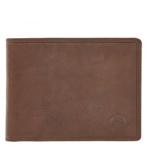 THE BRIDGE Brown Leather Man Wallet Card Holder Story Line Made in Italy