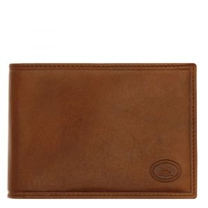 THE BRIDGE Story Line – Brown Leather Wallet with Flap Closure Made in Italy