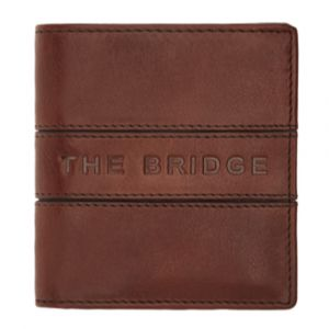 THE BRIDGE Vacchereccia - Brown Leather Man Card Holder Made in Italy
