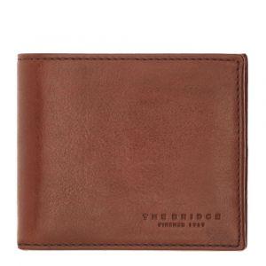 THE BRIDGE Lapo Line – Brown Black Leather Wallet for Men