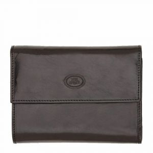 THE BRIDGE Story Line – Black Leather Wallet with Clip and Internal Flap