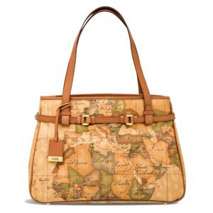 1A Classe Alviero Martini Geo Classic - Large Size Tote Bag D031 Made in Italy