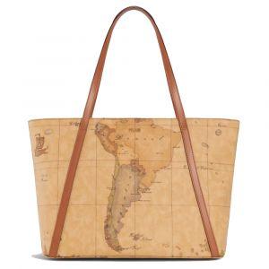 1A Classe Alviero Martini Geo Classic E011 - Shopping Bag with Studs