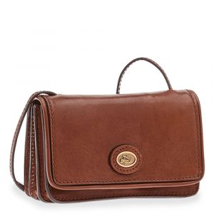 THE BRIDGE Story Line - Brown Leather Clutch Made in Italy