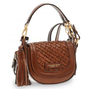 THE BRIDGE Salinger Line – Small Brown Leather Crossbody Bag for Women