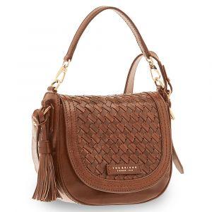 THE BRIDGE Brown Leather Woman Handbag Salinger Line