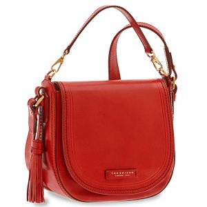 THE BRIDGE Red Leather Woman Medium Handbag Pearl District Line
