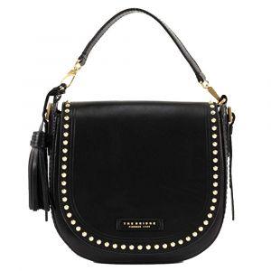 THE BRIDGE Rock Line - Black Leather Woman Handbag Made in Italy