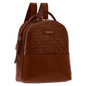 THE BRIDGE Brown Leather Woman Backpack Salinger Line