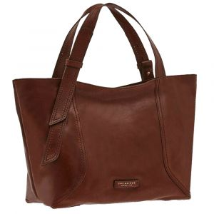 THE BRIDGE Brown Leather Shopping Bag Pienza Line