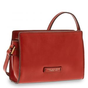 THE BRIDGE Bianca Line - Red Leather Crossbody Bag Made in Italy