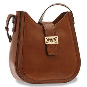THE BRIDGE Lavinia Line – Brown Leather Hobo Bag