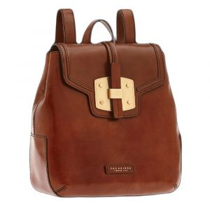 THE BRIDGE Lambertesca Line - Brown Leather Backpack Made in Italy