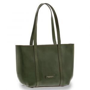 THE BRIDGE Vittoria Line – Green Leather Tote Bag for Women