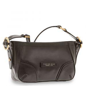 THE BRIDGE Matilde Line – Small Black Leather Crossbody Bag for Women