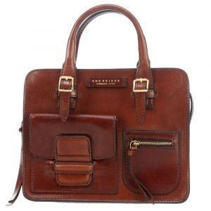 Borsa Donna Piccola a Mano THE BRIDGE in Pelle Marrone linea Cortona