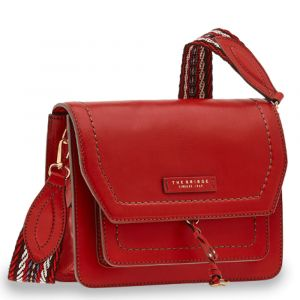 THE BRIDGE Elba Line - Red Leather Crossbody Bag Made in Italy
