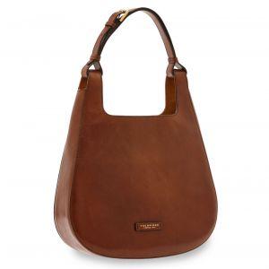THE BRIDGE Lucia Line – Brown Leather Hobo Bag