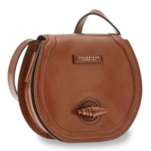 THE BRIDGE Panzani Line - Brown Leather Medium Crossbody Bag