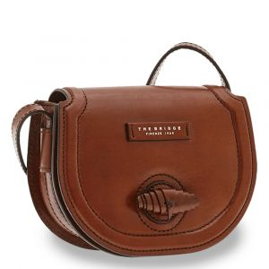 THE BRIDGE Panzani Line - Brown Leather Crossbody Bag