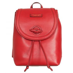 THE BRIDGE Panzani Line – Red Leather Backpack Made In Italy