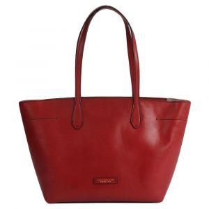 THE BRIDGE Guelfa Line – Medium Red Leather Shoulder Bag