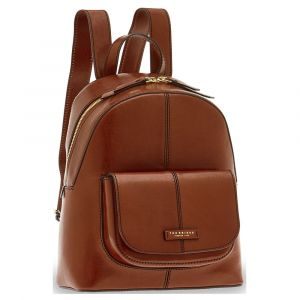 THE BRIDGE Faentina Line - Brown Leather Backpack Made in Italy