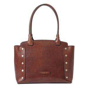 THE BRIDGE Eleonora Line – Brown Leather Tote Bag