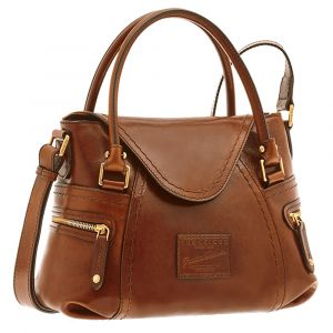 THE BRIDGE Brown Leather Gaucho Handbag Icons Line