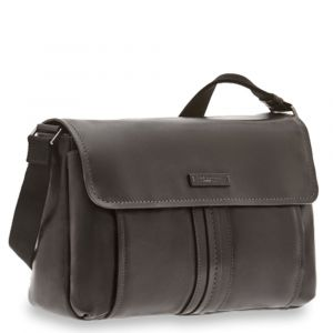 THE BRIDGE Cosimo Line - Black Leather Messenger Made in Italy