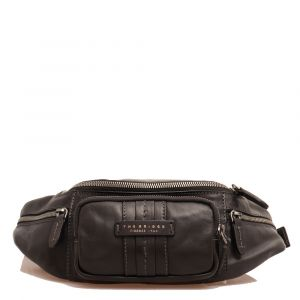 THE BRIDGE Cosimo Line - Black Leather Belt Bag Made in Italy