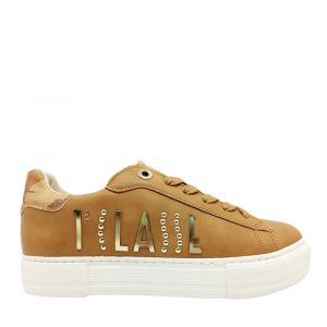 1A Classe Alviero Martini – Leather Sneakers with Gold Logo 10876