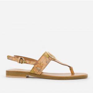 1A Classe Alviero Martini Geo Classic Line – Thong Sandals with Square Toe E354
