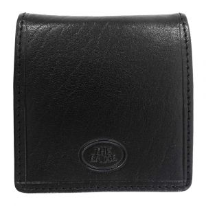 THE BRIDGE Story Line - Black Leather Coin Case