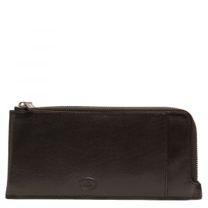 THE BRIDGE Story Line - Black Leather Unisex Wallet with Zip