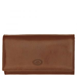 THE BRIDGE Story Line - Brown Leather Wallet with Button Made in Italy
