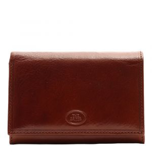 THE BRIDGE Story Line - Brown Leather Woman Small Wallet with Button