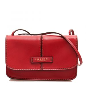 THE BRIDGE Faentina Line - Red Leather Mini Crossbody Bag