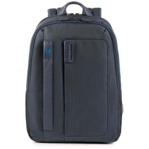 """PIQUADRO Pulse Line – Blue Fabric Backpack with 14"""" Pc and Tablet Compartment CA3869P16"""