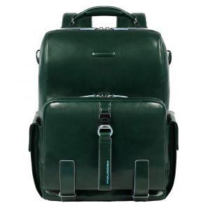 PIQUADRO Bagmoting Line - Green Leather Backpack CA4898B2