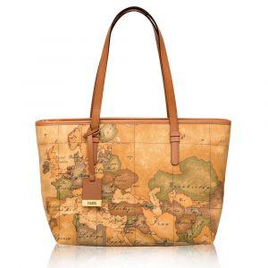 1A Classe Alviero Martini Geo Classic Medium Size Shopping Bag with Zip Closure D006