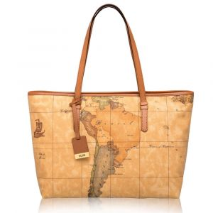1A Classe Alviero Martini Geo Classic Large Size Shopping Bag with Zip D007