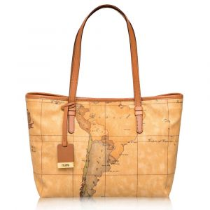 1A Classe Alviero Martini Geo Classic Medium Size Shopping Bag D004