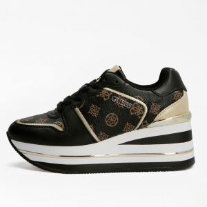 GUESS Hektore Line – Black Gold Sneakers for Women