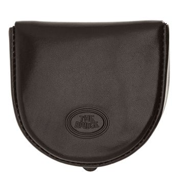 THE BRIDGE Story Line – Black Leather Coin Purse Made in Italy