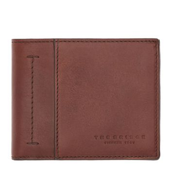 THE BRIDGE Serristori Line - Brown Leather Man Wallet Made in Italy