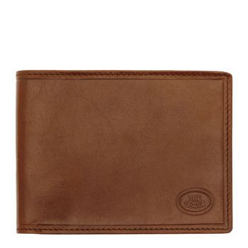 THE BRIDGE Brown Leather Man Wallet Story Line Made in Italy