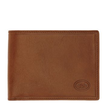 THE BRIDGE Story Line - Brown Leather Wallet with Card Holder and Coin Pocket Made in Italy